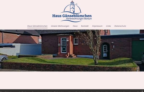 Vorschau von www.bett-auf-borkum.de, Ferienwohnungen Haus Gänseblümchen