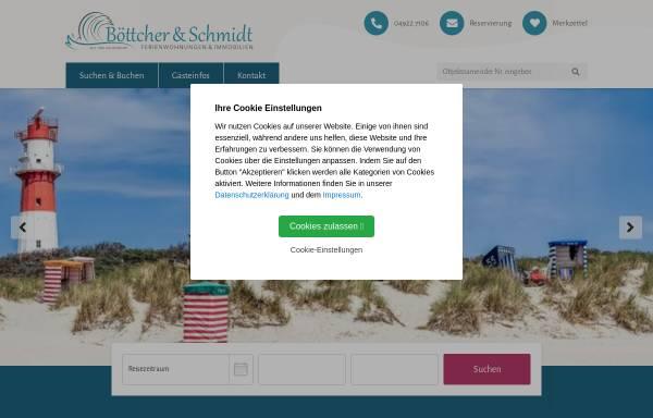 Vorschau von www.borkum-boettcher.de, Ferienwohnungen und Appartements Böttcher