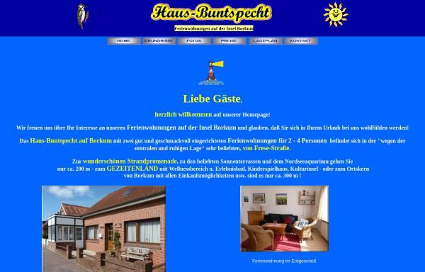 Vorschau von www.haus-buntspecht-borkum.de, Haus Buntspecht