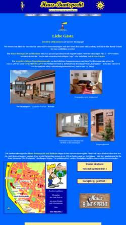 Vorschau der mobilen Webseite www.haus-buntspecht-borkum.de, Haus Buntspecht
