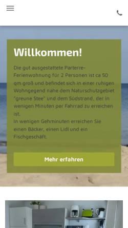 Vorschau der mobilen Webseite www.borkumwohnung.de, Haus