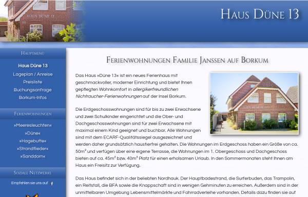 Vorschau von www.haus-duene-13-borkum.de, Haus Düne 13