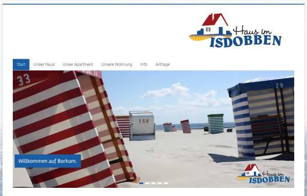 Vorschau von www.isdobben-borkum.de, Haus im Isdobben
