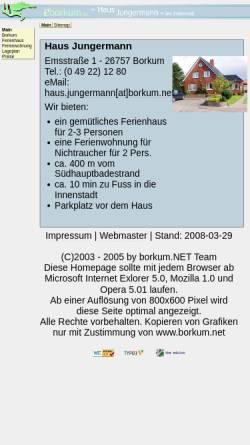 Vorschau der mobilen Webseite eborkum.de, Haus Jungerman
