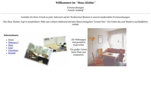 Vorschau von www.junkhoff.de, Haus Kiebitz