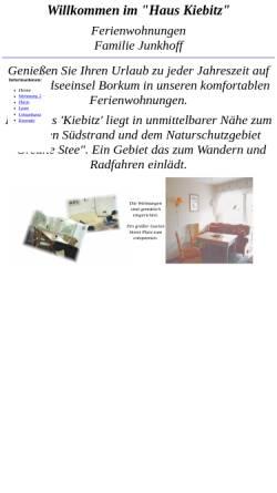 Vorschau der mobilen Webseite www.junkhoff.de, Haus Kiebitz