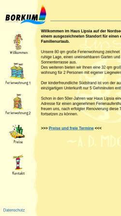 Vorschau der mobilen Webseite www.haus-lipsia.de, Haus Lipsia