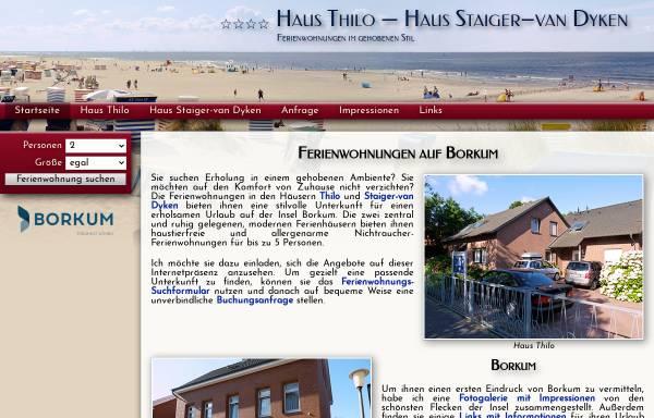 Vorschau von www.hausthilo.de, Haus Thilo und Haus Staiger-van Dyken