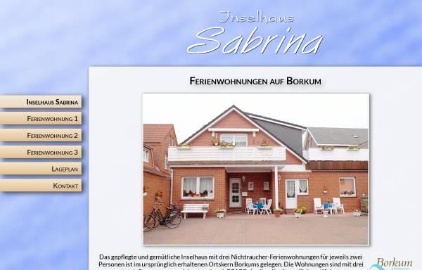 Vorschau von www.inselhaus-sabrina.de, Inselhaus Sabrina