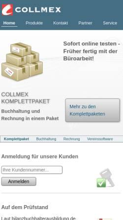 Vorschau der mobilen Webseite www.collmex.de, Collmex GmbH
