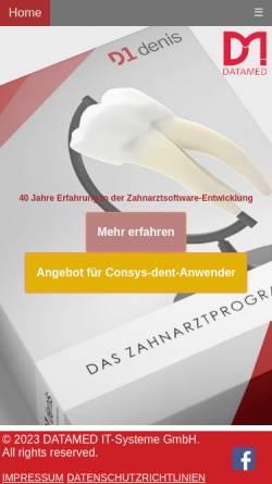 Vorschau der mobilen Webseite www.datamed.de, Data Med Praxiscomputer GmbH