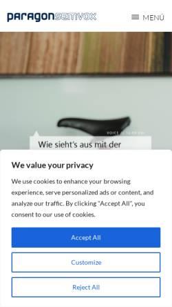 Vorschau der mobilen Webseite www.semvox.de, Semvox GmbH