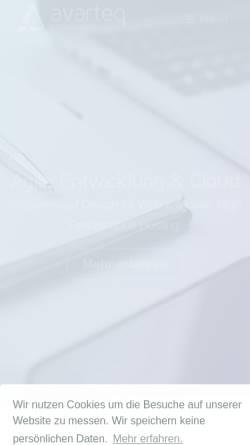 Vorschau der mobilen Webseite www.avarteq.de, Avarteq GmbH