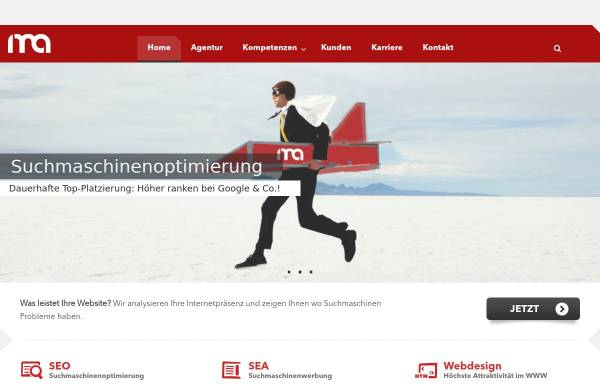 Vorschau von www.internet-marketing-agentur.com, IMA GmbH · Marketing & Consulting