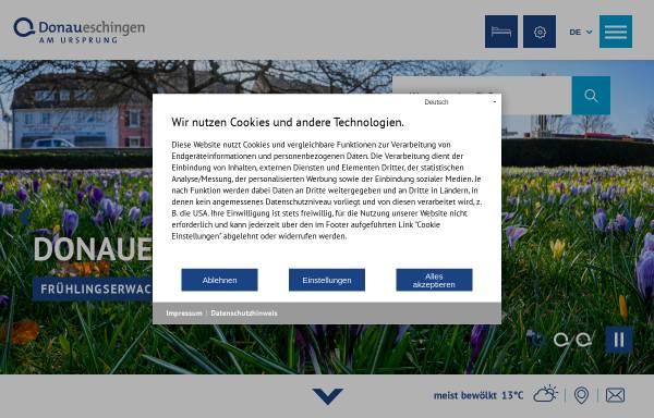 Vorschau von www.donaueschingen.de, Donaueschingen