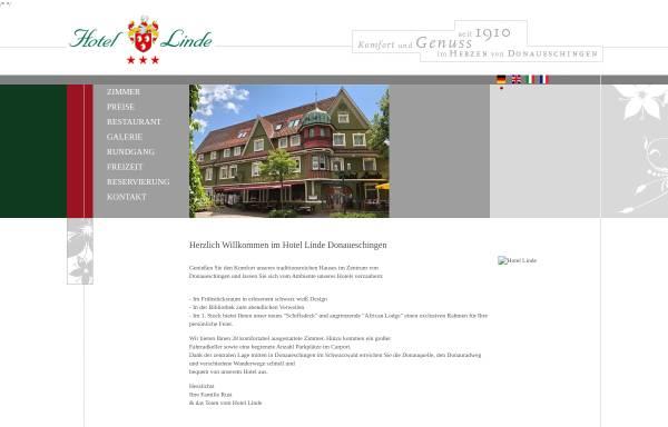 Vorschau von www.hotel-linde-ds.de, Hotel Linde