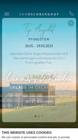Vorschau der mobilen Webseite www.oeschberghof.com, Hotel Öschberghof