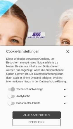 Vorschau der mobilen Webseite www.ass-melde.de, ASS Melde
