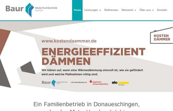 Vorschau von www.malerbaur.de, Malerfachbetrieb Baur GmbH