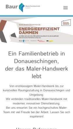 Vorschau der mobilen Webseite www.malerbaur.de, Malerfachbetrieb Baur GmbH
