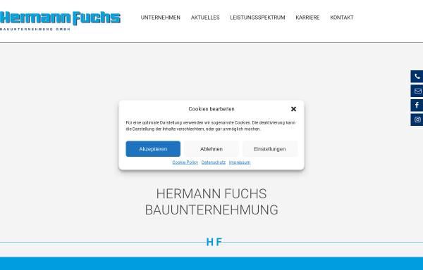 Vorschau von www.hermann-fuchs-bau.de, Hermann Fuchs Bauunternehmung GmbH