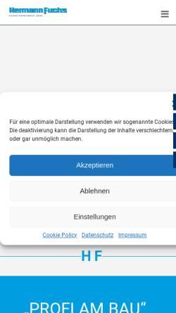 Vorschau der mobilen Webseite www.hermann-fuchs-bau.de, Hermann Fuchs Bauunternehmung GmbH