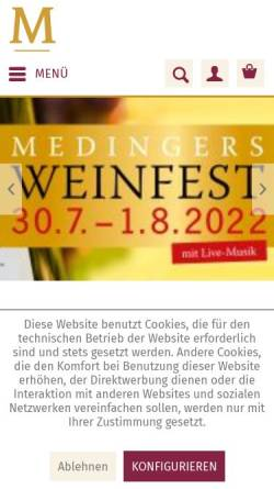 Vorschau der mobilen Webseite www.weingut-medinger.de, Weingut Medinger