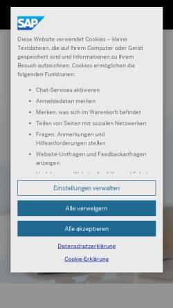 Vorschau der mobilen Webseite www.sap.com, SAP Deutschland SE & Co. KG