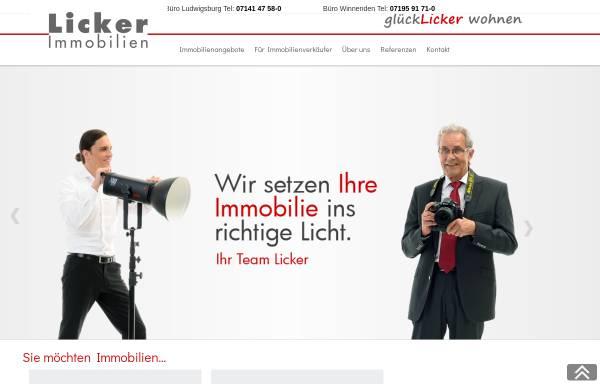 Vorschau von www.licker.de, F.C. Licker Immobilien GmbH