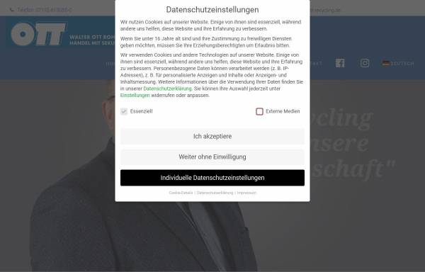 Vorschau von www.ott-recycling.de, Walter Ott Rohstoff-Recycling GmbH & Co. KG