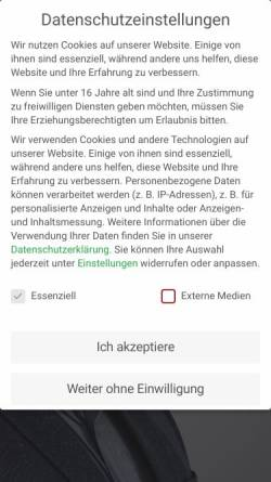 Vorschau der mobilen Webseite www.ott-recycling.de, Walter Ott Rohstoff-Recycling GmbH & Co. KG