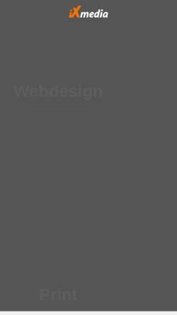 Vorschau der mobilen Webseite www.ixmedia.de, iXmedia GmbH Werbeagentur