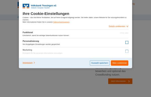 Vorschau von www.volksbank-trossingen.de, Volksbank Trossingen eG