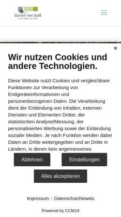 Vorschau der mobilen Webseite www.daiss-garten.de, Günther Daiss Gartengestaltung