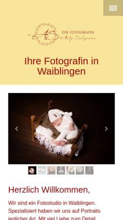 Vorschau der mobilen Webseite diefotografin-waiblingen.de, Die Fotografin Antje Salzmann