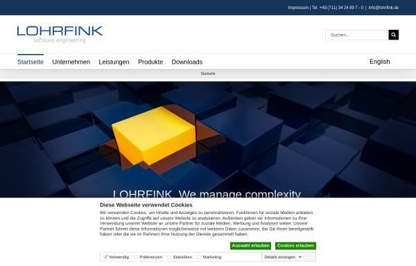 Vorschau von www.lohrfink.de, Lohrfink software engineering