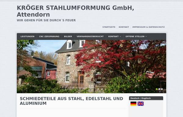 Vorschau von www.kroeger-stahlumformung.de, Kröger Stahlumformung GmbH
