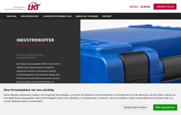 Vorschau von www.lebbe-koffer.de, LKT Lebbe Industriekoffer