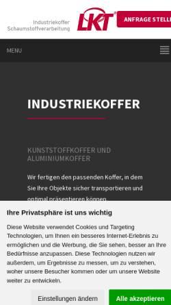 Vorschau der mobilen Webseite www.lebbe-koffer.de, LKT Lebbe Industriekoffer