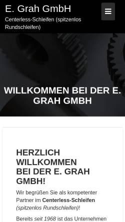 Vorschau der mobilen Webseite www.toleranzschleifen.de, E. Grah GmbH