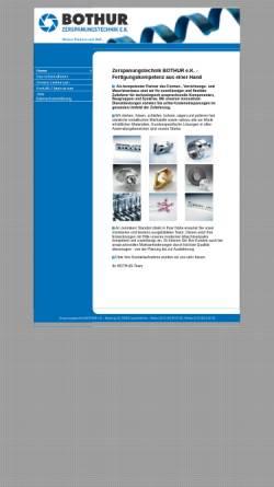Vorschau der mobilen Webseite www.b-z-t.de, Bothur Zerspanungtechnik OHG