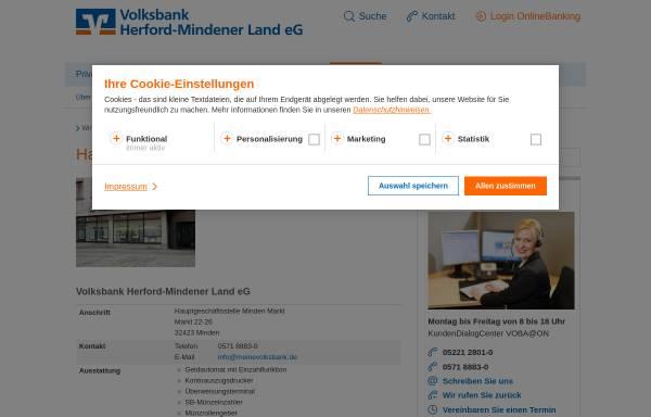 Vorschau von www.vb-ml.de, Volksbank Minden eG