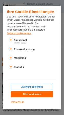 Vorschau der mobilen Webseite www.vb-ml.de, Volksbank Minden eG