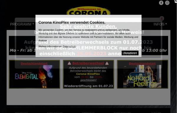 Vorschau von corona-kinoplex.de, Corona Kinoplex