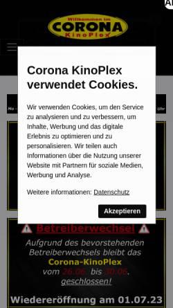Vorschau der mobilen Webseite corona-kinoplex.de, Corona Kinoplex