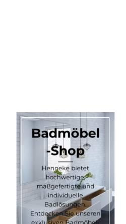 Vorschau der mobilen Webseite www.henneke.com, Henneke Formbau GmbH
