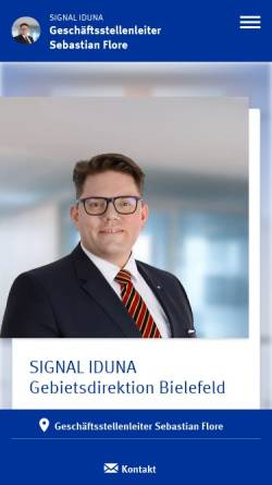 Vorschau der mobilen Webseite www.signal-iduna.de, Signal Iduna Paderborn