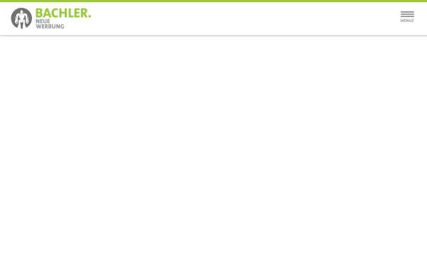 Vorschau von www.bachler-werbeagentur.de, BACHLER Werbeagentur GmbH
