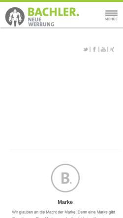 Vorschau der mobilen Webseite www.bachler-werbeagentur.de, BACHLER Werbeagentur GmbH