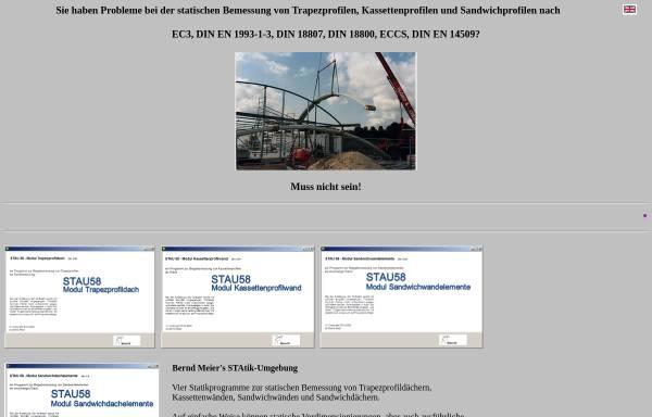 Vorschau von www.statik-meier.de, Bernd Meier - Ingenieur für Baustatik